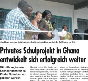 Privates Schulprojekt in Ghana entwickelt sich erfolgreich weiter